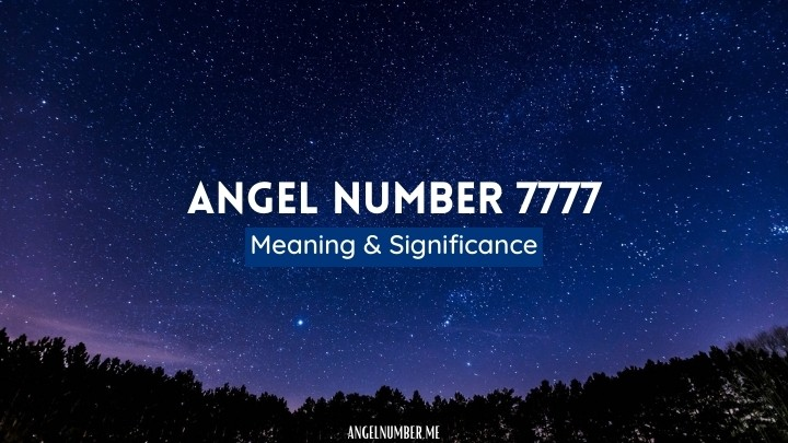 Angel Number 7777 meaning
