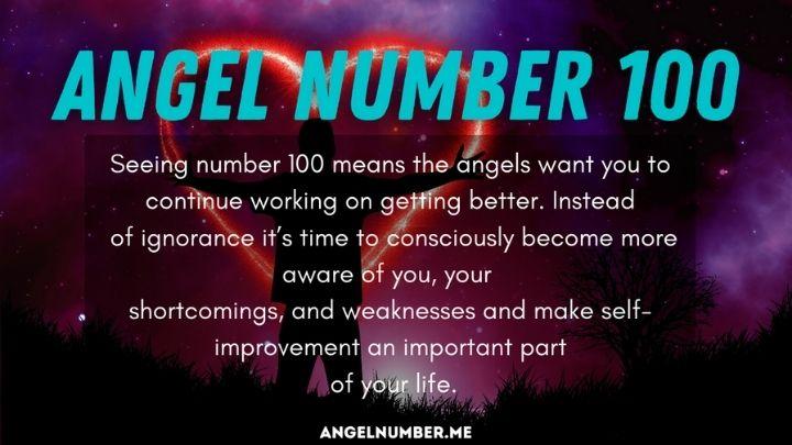 Seeing 100 Angel Number