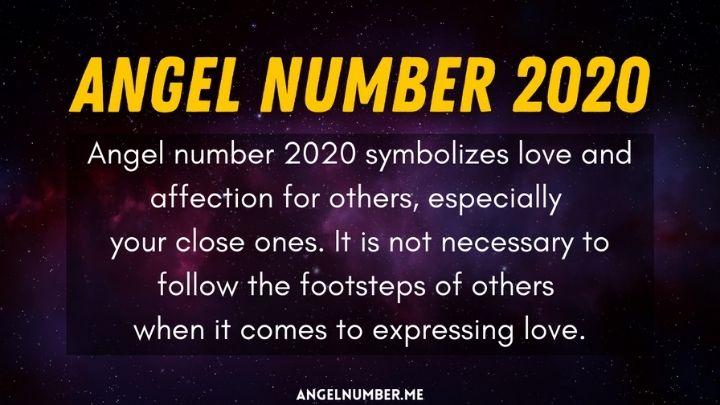 Seeing 2020 Angel Number
