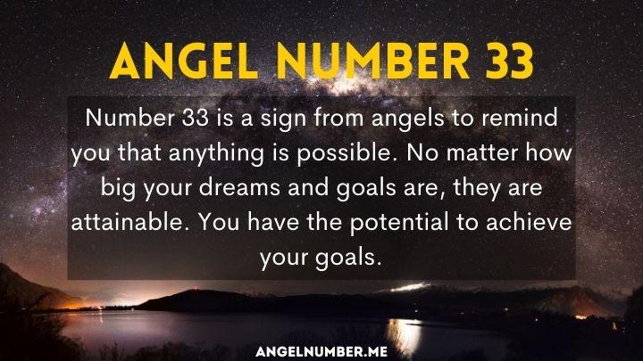 Seeing 33 Angel Number