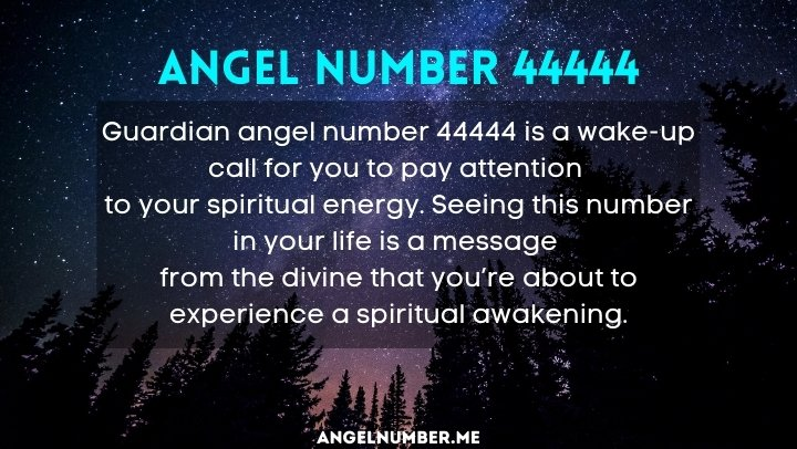 44444 angel meaning love