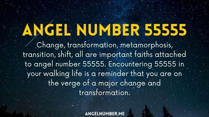 seeing 55555 angel number