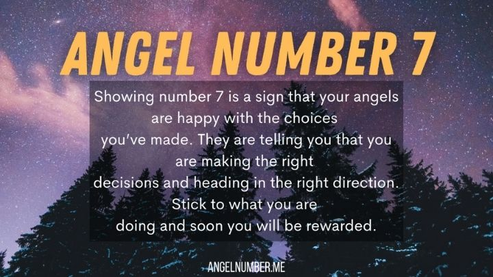 seeing angel number 7