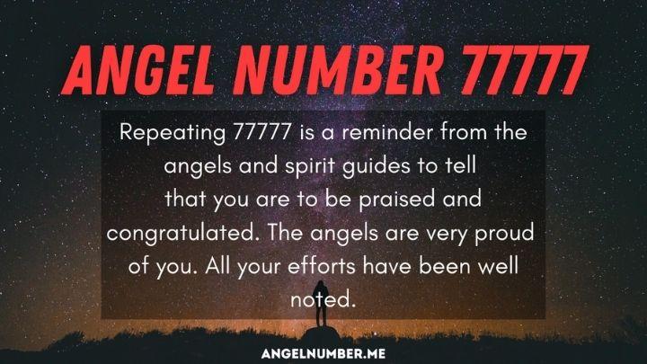 Seeing 77777 Angel Number