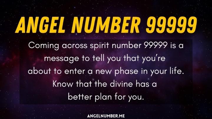 seeing 99999 angel number
