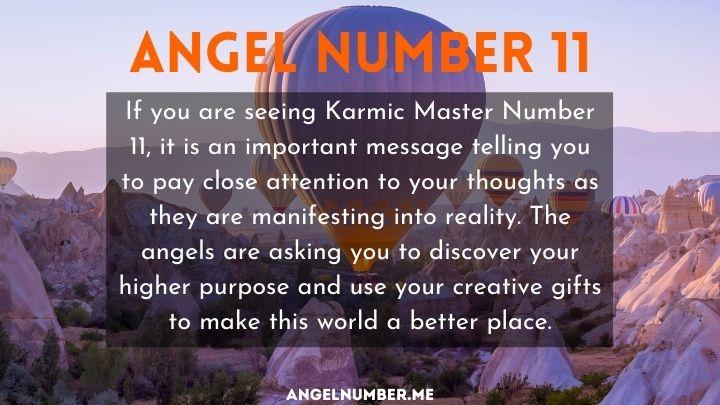 11 angel number love