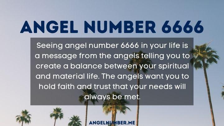 seeing 6666 angel number