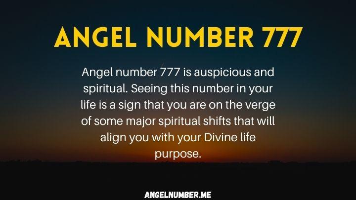 seeing 777 angel number