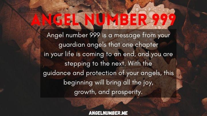 seeing 999 angel number