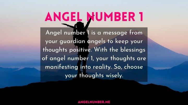 seeing 1 angel number