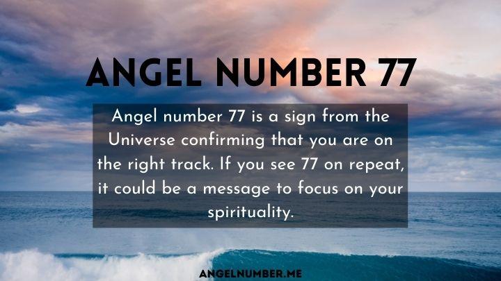 seeing 77 angel number
