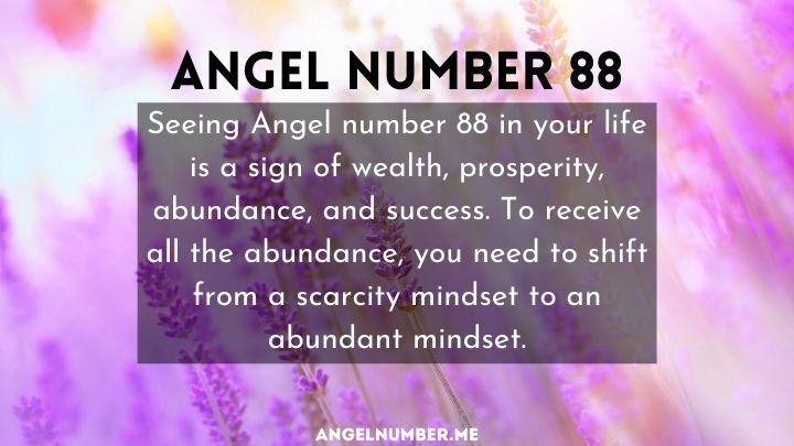 seeing 88 angel number