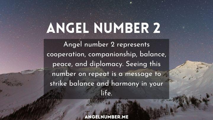 seeing angel number 2