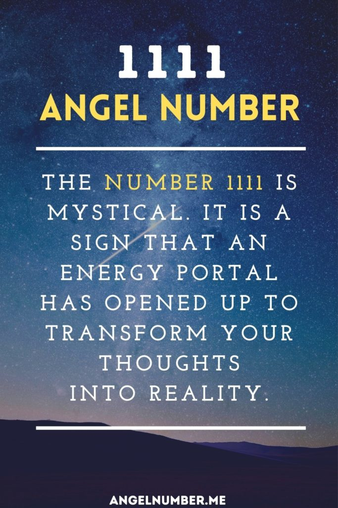 Angel Number 1111 Spiritual Meaning