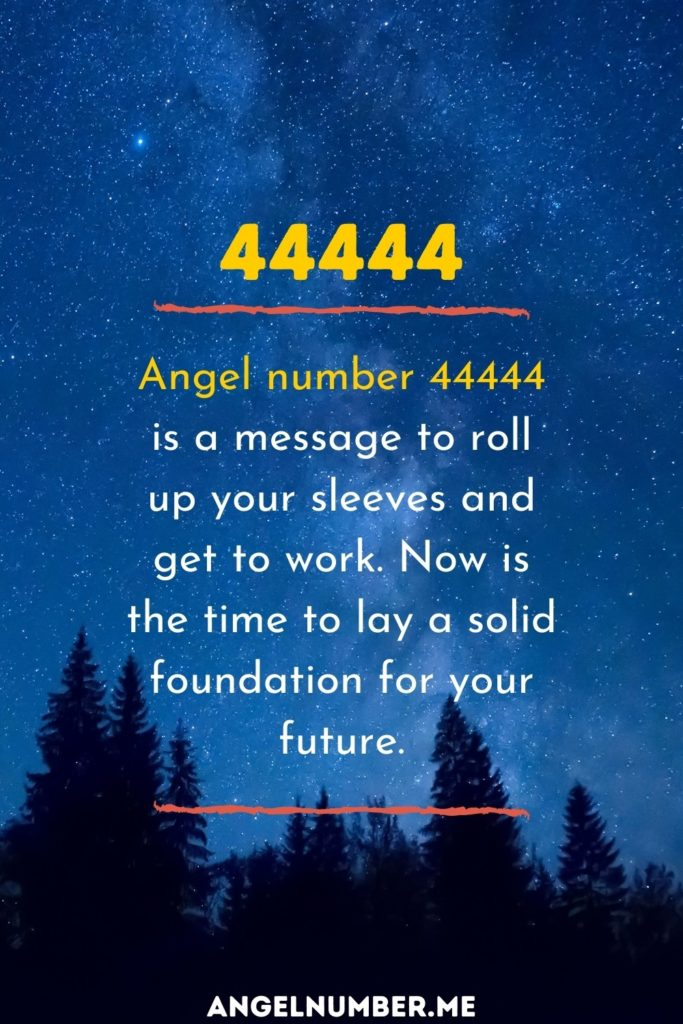 angel number 44444 spiritual meaning