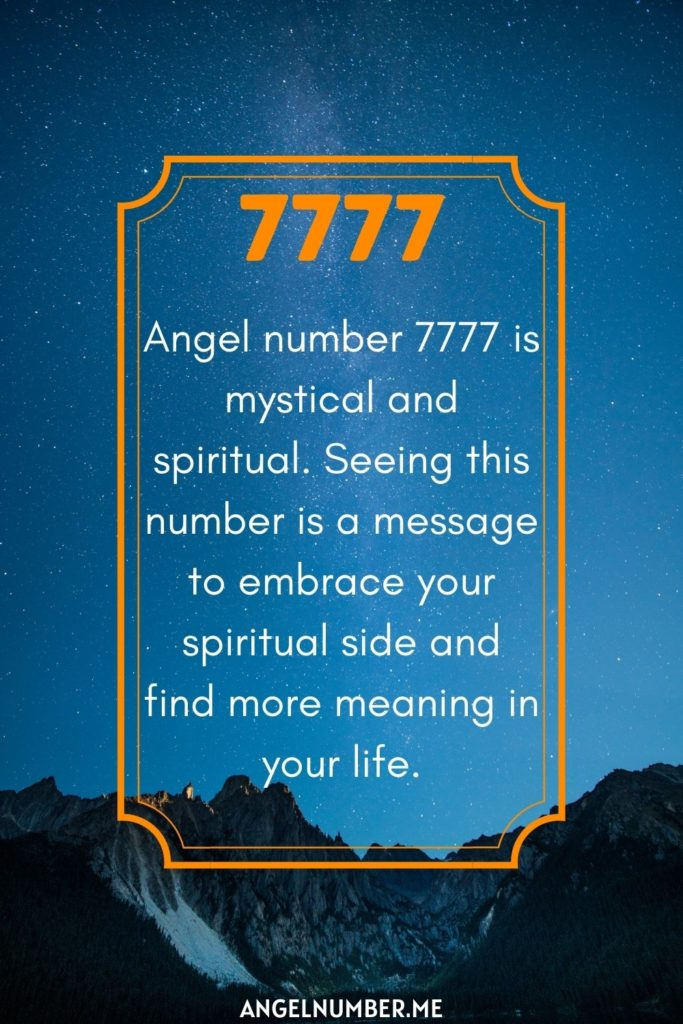 angel number 7777 spiritual meaning