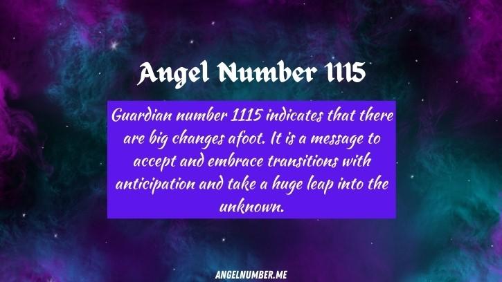 Seeing 1115 Angel Number