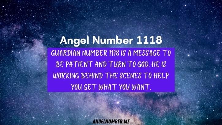 Seeing 1118 Angel Number