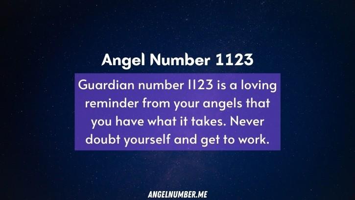 Seeing 1123 Angel Number
