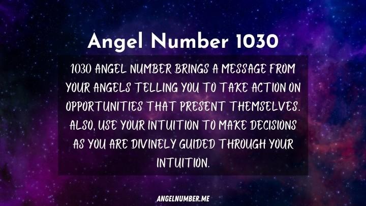Seeing 1030 Angel Number