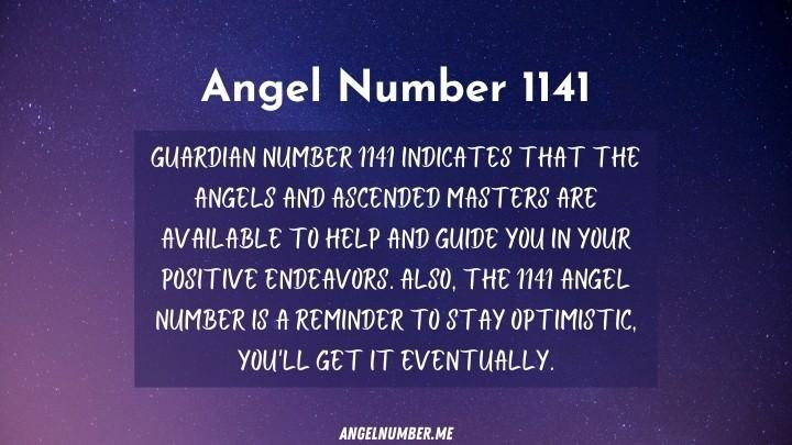seeing 1141 Angel Number