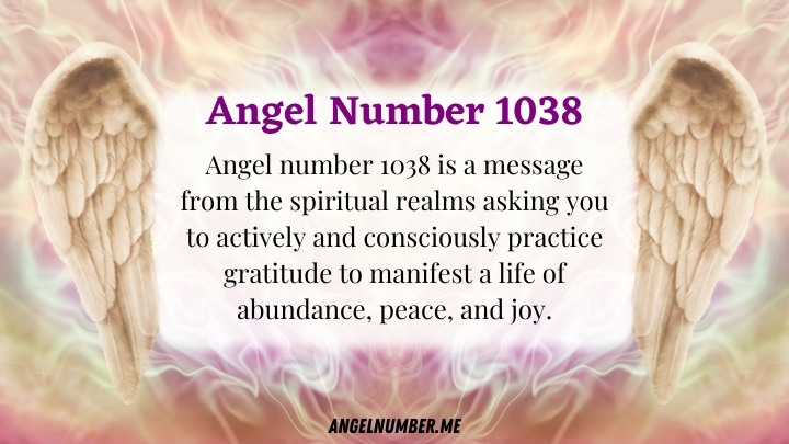 Angel Number 1038 Meaning