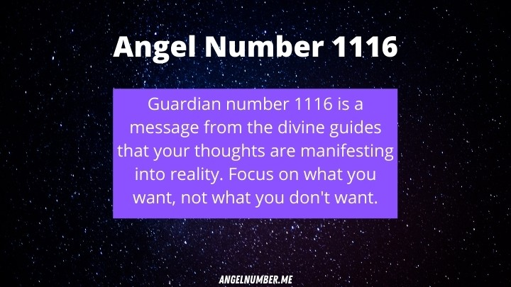 1116 angel number meaning