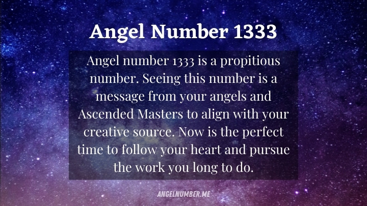 Angel Number 1333 Meaning