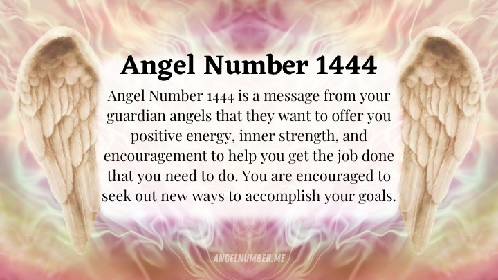 Angel Number 1444 Meaning